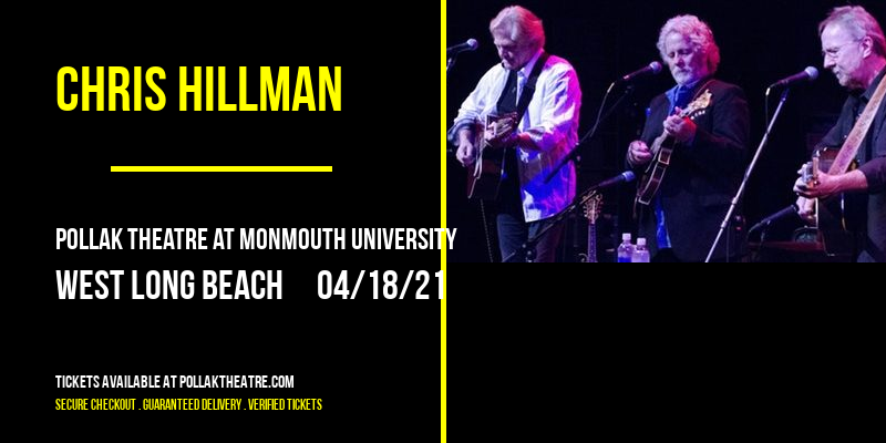 Chris Hillman at Pollak Theatre at Monmouth University
